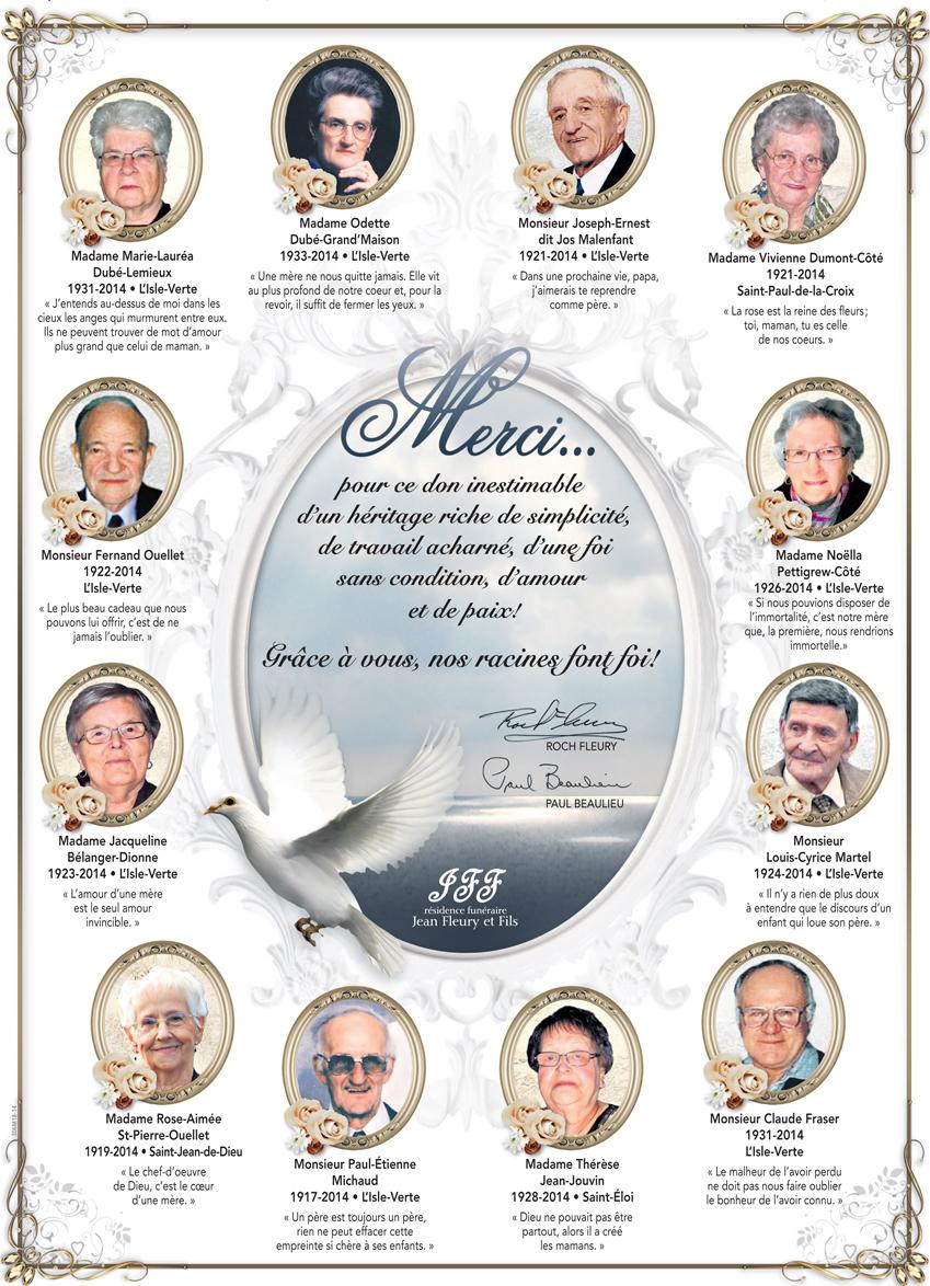 Hommage aux victimes de L'Isle-Verte